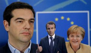 macron merkel e tsipras