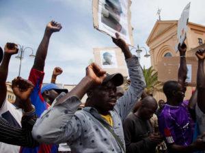 manifestazione di migranti in Calabria, 4 giugno 2018
