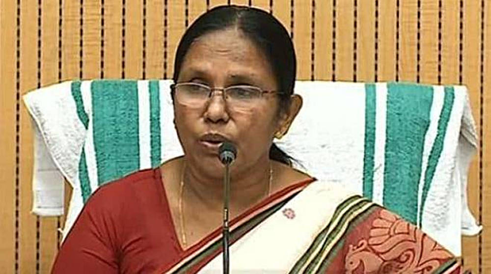 ministro sanità kerala KK Shailaja