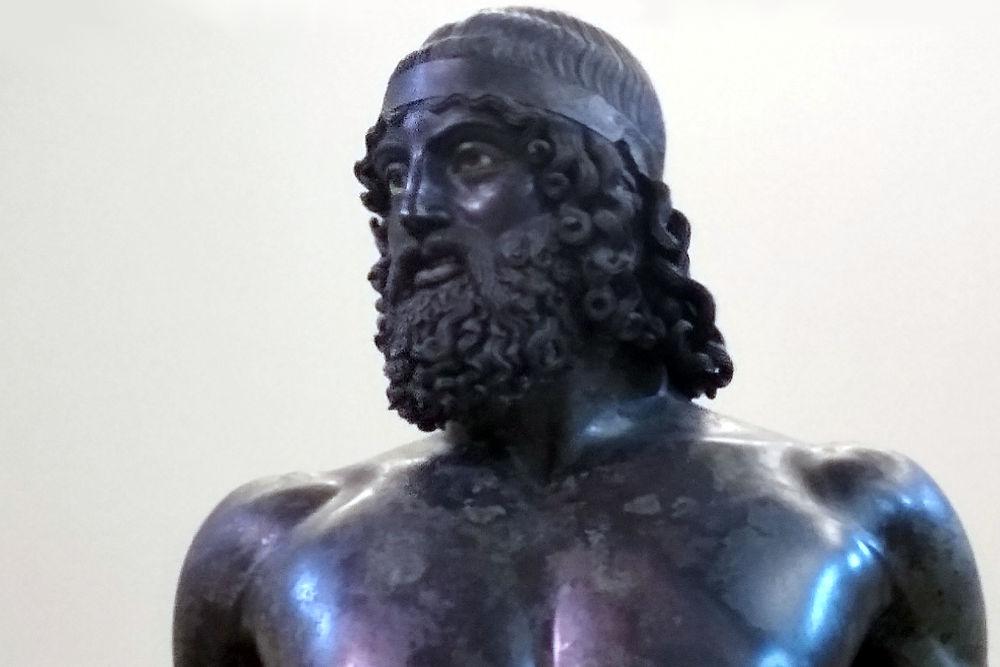 Bronzi di Riace al museo archeologico di Reggio Calabria