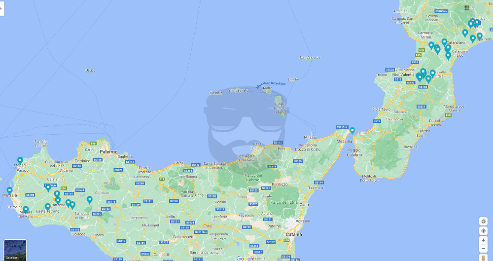 focus dei progetti di impianti eolici in Calabria e Sicilia