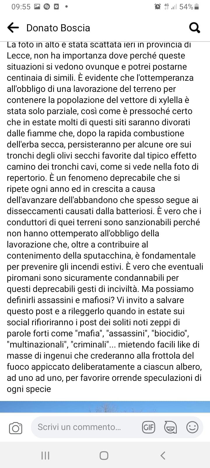 post Donato Boscia 14 maggio 2021